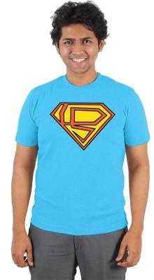 Vilva Solid Men's Round Neck Light Blue T-Shirt