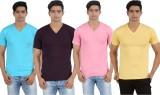 Lyril Solid Men's V-neck Multicolor T-Sh...