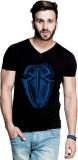 ILYK Printed Men's V-neck Black T-Shirt