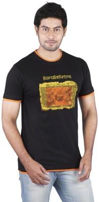 Bib & Tucker Printed Men's Round Neck Black T-Shirt