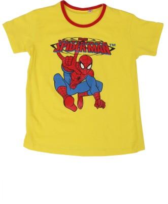 SAIAANSH Graphic Print Baby Boy's Round Neck Yellow T-Shirt