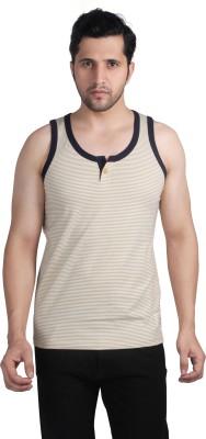 Nostrum Jeans Striped Men's Round Neck Beige, White, Dark Blue T-Shirt
