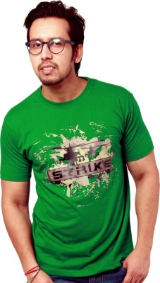 Crypticvoodoo Graphic Print Men's Round Neck Green T-Shirt