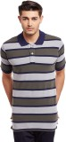 The Vanca Striped Men's Polo Neck Multic...