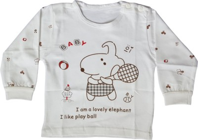 Upside Down Animal Print Baby Girl,s, Baby Boy's Round Neck T-Shirt