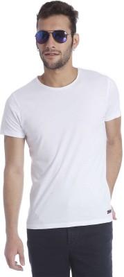 Jack & Jones Solid Men's Round Neck White T-Shirt
