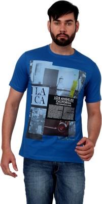 Urban Republic Printed Men's Round Neck Blue T-Shirt