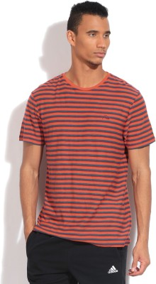 Quiksilver Striped Men's Round Neck Blue, Red T-Shirt