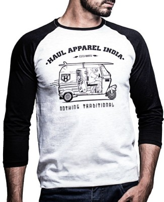 Haul Graphic Print Men,s, Women's Round Neck Grey, Black T-Shirt
