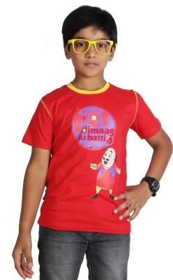 Motu Patlu Printed Boy's Round Neck T-Shirt