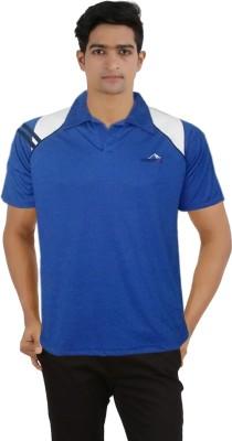 Lyril Solid Men's Round Neck Light Blue T-Shirt