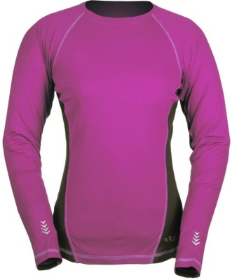 Rab Solid Women's Round Neck Pink T-Shirt
