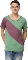 Yepme T Shirts (Men's) - Yepme Solid Men's Round Neck Green, Maroon T-Shirt