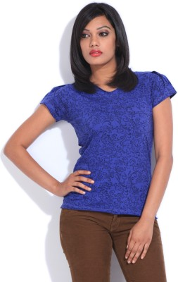 Style Quotient Printed Women's V-neck T-Shirt