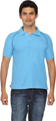 Scottish Solid Men's Polo Light Blue, Black T-Shirt