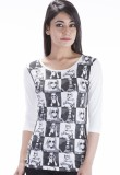 Peppermint Blues Printed Women's Round N...