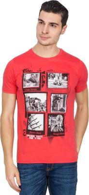 IQ Printed Men,s Round Neck Red T-Shirt