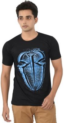 ILYK Printed Men's Round Neck Black T-Shirt