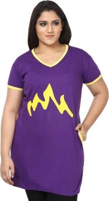 JSR Printed Women's V-neck T-Shirt