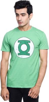 DC COMIC Printed Men's Round Neck Green T-Shirt