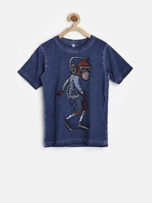 Marks & Spencer Printed Boy's Round Neck T-Shirt