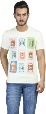 Simpsons Printed Men's Round Neck Green T-Shirt