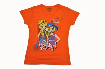 BelleGirl Printed Girl's Round Neck T-Shirt