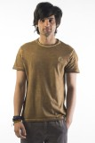 Srota Solid Men's Round Neck Green T-Shi...