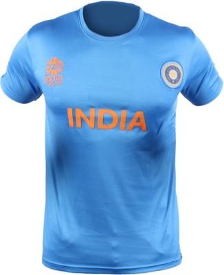 ICC WT20 Solid Men's Round Neck T-Shirt