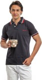 BG69 Solid Men's Polo Neck Black T-Shirt