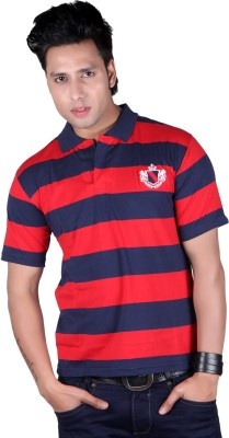 ALF Striped Men's Polo Neck Red T-Shirt