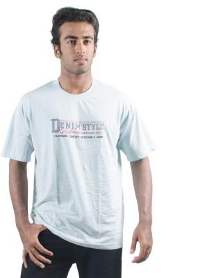0-Degree Solid Men's Round Neck Green T-Shirt