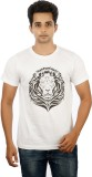 MannMohh Printed Men's Round Neck White ...