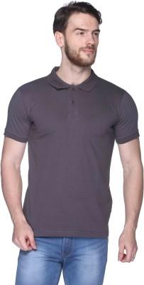 CLUB YORK Solid Men,s Polo Grey T-Shirt