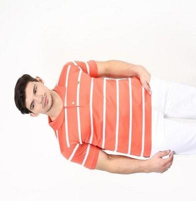 UV&W Striped Men's Polo Orange T-Shirt