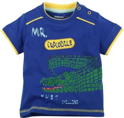 Babyoye Printed Boy's Round Neck Blue T-Shirt