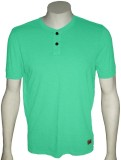 Cool Club Solid Men's Henley Light Green...