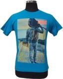 Port Blair Printed Men's Round Neck Blue...