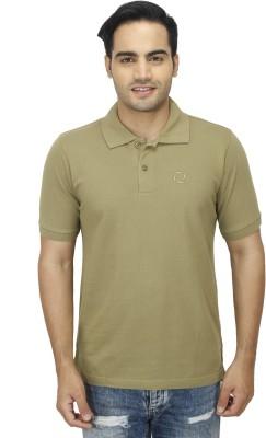 Zista Solid Men's Polo Dark Green T-Shirt