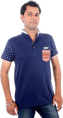 All Ruggby Printed Men's Polo Neck Dark Blue T-Shirt