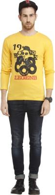 Cali Republic Printed Men's Round Neck Yellow, Black, Red T-Shirt