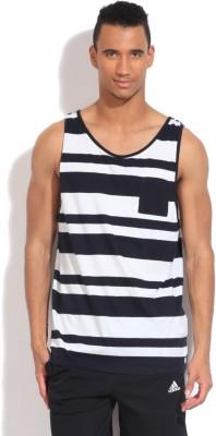 Quiksilver Striped Men's Round Neck White, Black T-Shirt