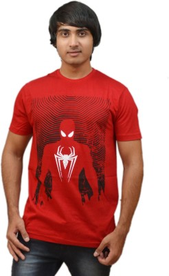 RED N HOT Graphic Print Men's Round Neck Red, Black T-Shirt