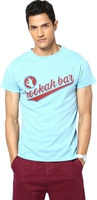 Gabambo Graphic Print Men's Round Neck Light Blue T-Shirt