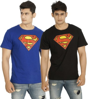 five on five Printed Men's Round Neck Multicolor T-Shirt
