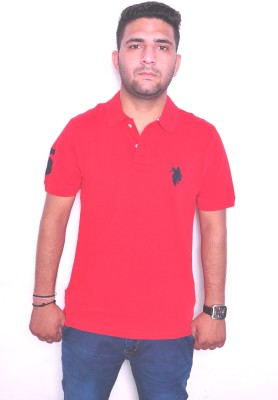 Jura Polo Solid Men's Polo Neck Reversible Red T-Shirt