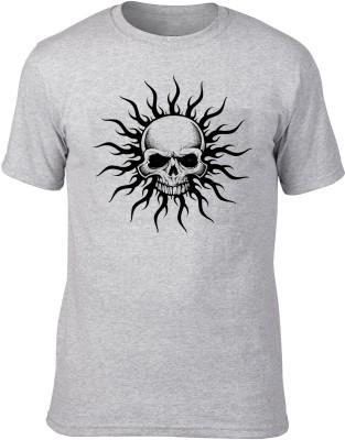 Attractive Designs Graphic Print Men's Round Neck Grey T-Shirt