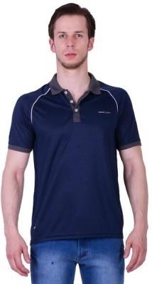 Duke Stardust Solid Men's Polo Neck Dark Blue T-Shirt