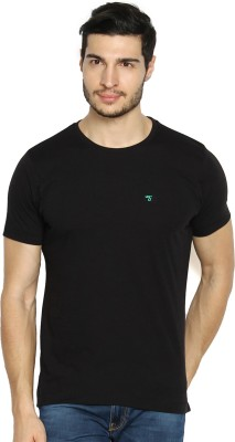 The Indian Garage Co. Solid Men's Round Neck Black T-Shirt