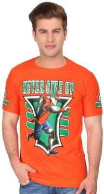deccan store Printed Men's Round Neck Orange T-Shirt
